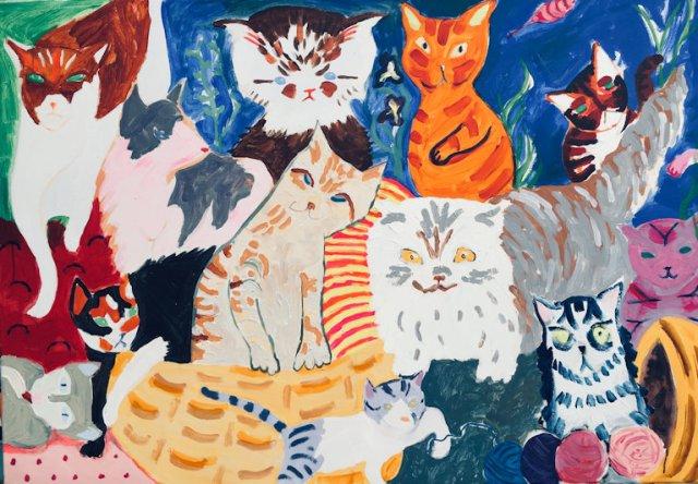 Cat Calendar, Helen Dryden, 2019